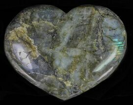 "Buy 5.0"" Flashy Polished Labradorite Heart - #62950"