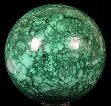 "Huge, 6"" Polished Malachite Sphere - Congo For Sale, #62978"