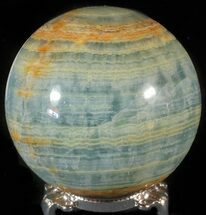 "Buy 3"" Polished Blue Onyx Sphere - Argentina - #63265"