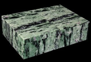 "7.9"" Wide Ruby Zoisite Jewelry Box - Stunning For Sale, #64745"