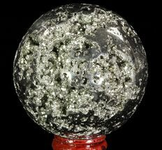 "2.7"" Polished Pyrite Sphere - Peru For Sale, #65147"