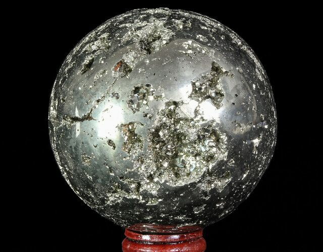 "3.3"" Polished Pyrite Sphere - Peru"
