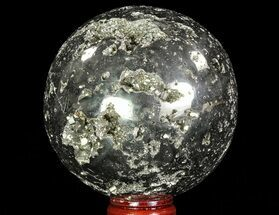 "Buy 3.25"" Polished Pyrite Sphere - Peru - #65866"