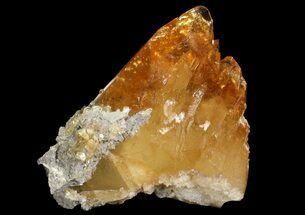 "4.3"" Golden, Twinned Calcite Crystals On Matrix - Elmwood Mine For Sale, #66314"