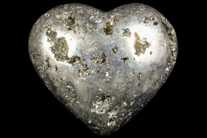 "3.2"" Polished Pyrite ""Heart"" - Peru"