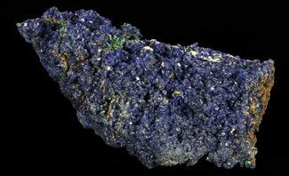 "Buy 1.8"" Sparkling Azurite Crystal Cluster with Malachite - Laos - #69694"