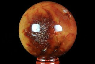 "2.75"" Colorful Carnelian Agate Sphere - Madagascar For Sale, #70955"