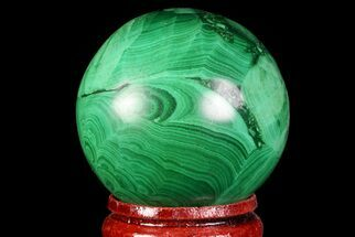 "Beautiful, 1.5"" Polished Malachite Sphere - Congo For Sale, #71537"