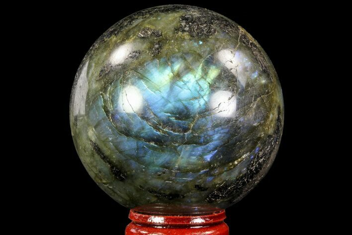 "Bargain, 2.35"" Flashy Labradorite Sphere - Great Color Play"