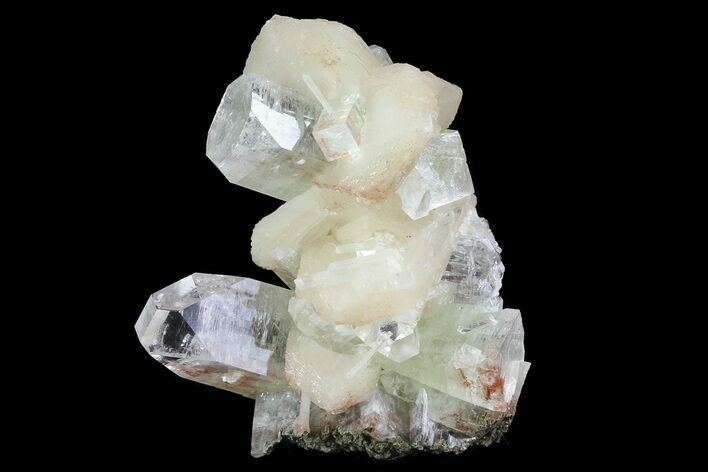 "2.7"" Zoned Apophyllite Crystals With Stilbite - India"