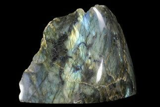 "4.7"" Tall, Single Side Polished Labradorite - Madagascar For Sale, #72560"