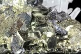 "4.7"" Sphalerite, Pyrite and Quartz Association - Peru - #72599-1"