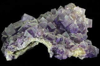 "4"" Cubic, Purple Fluorite Crystal Cluster - China For Sale, #73943"