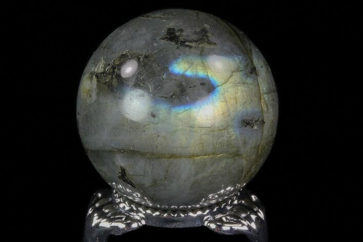 "1.3"" Flashy Labradorite Sphere - Great Color Play"