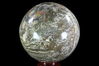 "Large, 7.8"" Ocean Jasper Sphere - 23.9 lbs For Sale, #74735"