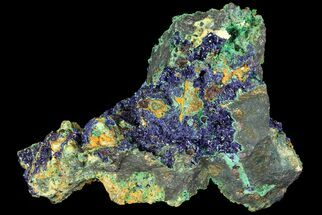 Azurite, Malachite, Galena and Chalcopyrite - Fossils For Sale - #74388