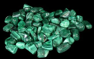 "Buy 1 to 1 1/2"" Tumbled Malachite - Single Piece - #75667"