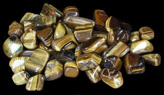 Tumbled Tiger's Eye - 8oz. (About 12pc.) For Sale, #75674