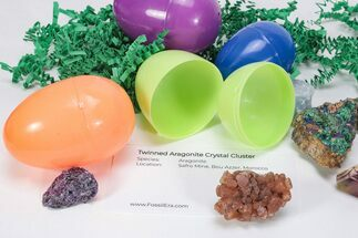 Mineral & Crystal Filled Easter Eggs! - 3 Pack For Sale, #75719