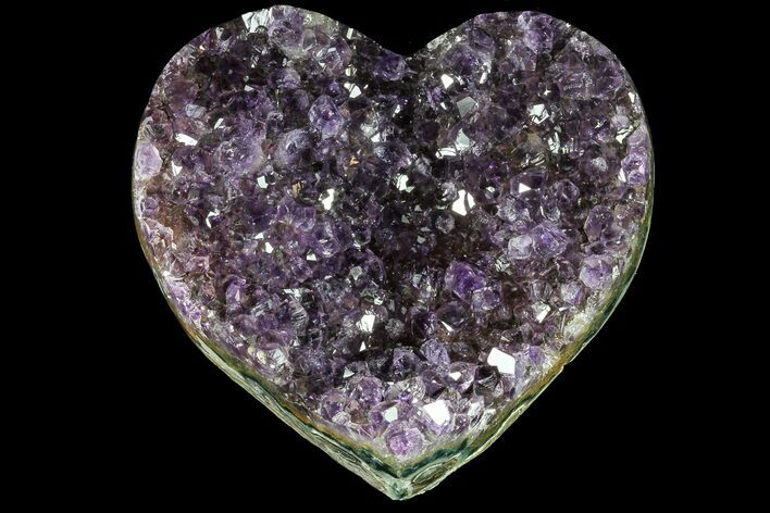 "3.5"" Purple Amethyst Crystal Heart - Uruguay"