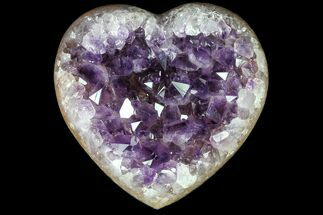 "Buy 4.1"" Purple Amethyst Crystal Heart - Uruguay - #76795"