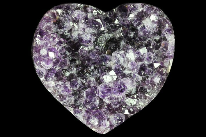 "4.3"" Purple Amethyst Crystal Heart - Uruguay"