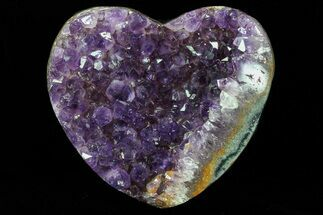 "3.4"" Purple Amethyst Crystal Heart - Uruguay For Sale, #76802"