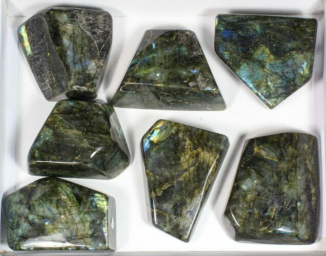 Wholesale Lot: 20 Lbs Free-Standing Polished Labradorite - 7 Pieces