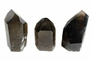 "Wholesale Lot: 21 Lbs Cut base Smoky Quartz Crystals (2-4"") - Brazil For Sale, #77822"
