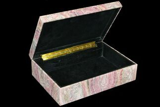 "8"" Wide Rhodochrosite Jewelry Box - Gorgeous For Sale, #78065"