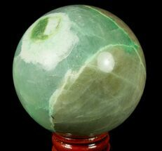 "3"" Polished Garnierite Sphere - Madagascar For Sale, #78998"