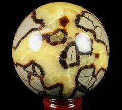 "Buy 4.9"" Polished Septarian Sphere - 6 lbs - #79330"