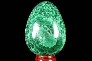 "Buy Stunning, 3"" Polished Malachite Egg - Congo - #78919"