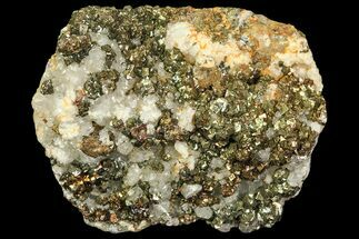 "Buy 2.5"" Pyrite On Calcite & Quartz - El Hammam Mine, Morocco - #80362"