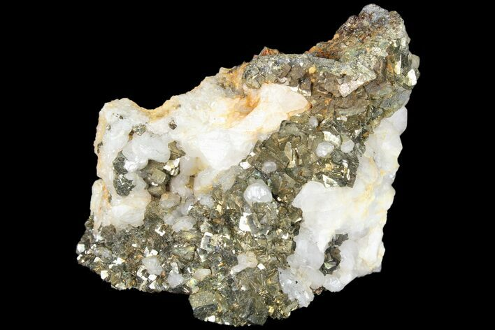 "2.8"" Pyrite On Calcite - El Hammam Mine, Morocco"