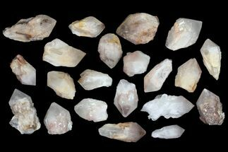 "Buy Wholesale Flat - 2.8-3.5"" Quartz Points (Pineapple Quartz) - 20 Pieces - #83329"
