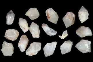 "Wholesale Flat - 1.6-2.4"" Quartz Points (Pineapple Quartz) - 36 Pieces For Sale, #83330"