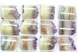 Wholesale Lot: Amethyst Half Cylinder (For Pendants) - 24 Pieces - #83430-2