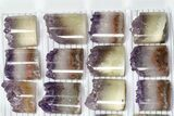 Wholesale Lot: Amethyst Half Cylinder (For Pendants) - 24 Pieces - #83410-2