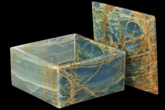 "Buy 5.9"" Wide Blue Onyx Jewelry Box - #84121"