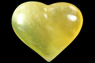 "3.1"" Carved & Polished Fluorite Heart - Argentina For Sale, #84179"