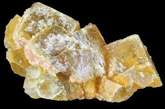 "Buy 2.3"" Yellow Cubic Fluorite/Quartz Crystal Cluster - Morocco - #84295"
