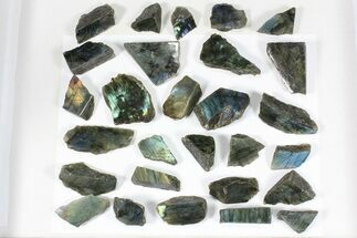 Wholesale: 1kg One Side Polished Labradorite - 28 Pieces For Sale, #84476