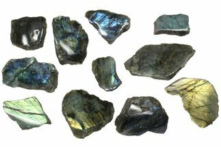 Buy Wholesale: 1kg One Side Polished Labradorite - 11 Pieces - #84553
