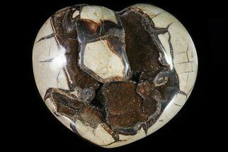 "Buy 8.7"" Polished Septarian Heart With Crystal Pockets - #81349"