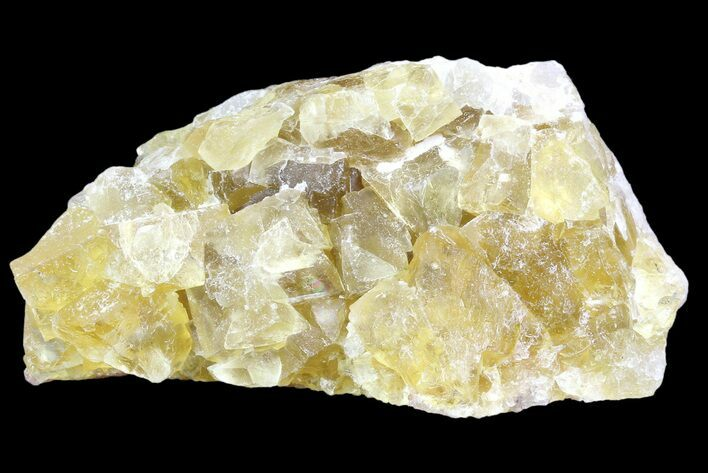 "2.4"" Lustrous Yellow Cubic Fluorite Crystal Cluster - Morocco"