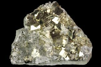 "Buy 2"" Quartz Crystal Cluster With Gleaming Pyrite - Peru - #87742"
