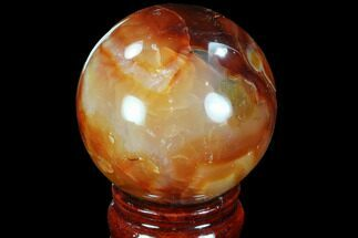 "Buy 2.25"" Colorful Carnelian Agate Sphere - #88840"