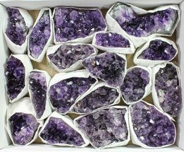 Buy Wholesale Lot: Uruguay Amethyst Clusters (Grade A) - 18 Pieces - #90115