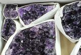 Wholesale Lot: Uruguay Amethyst Clusters (Grade A) - 9 Pieces - #90128-1